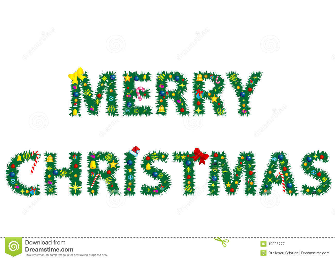 The Words Merry Christmas Royalty Free Stock Photography - Image ...