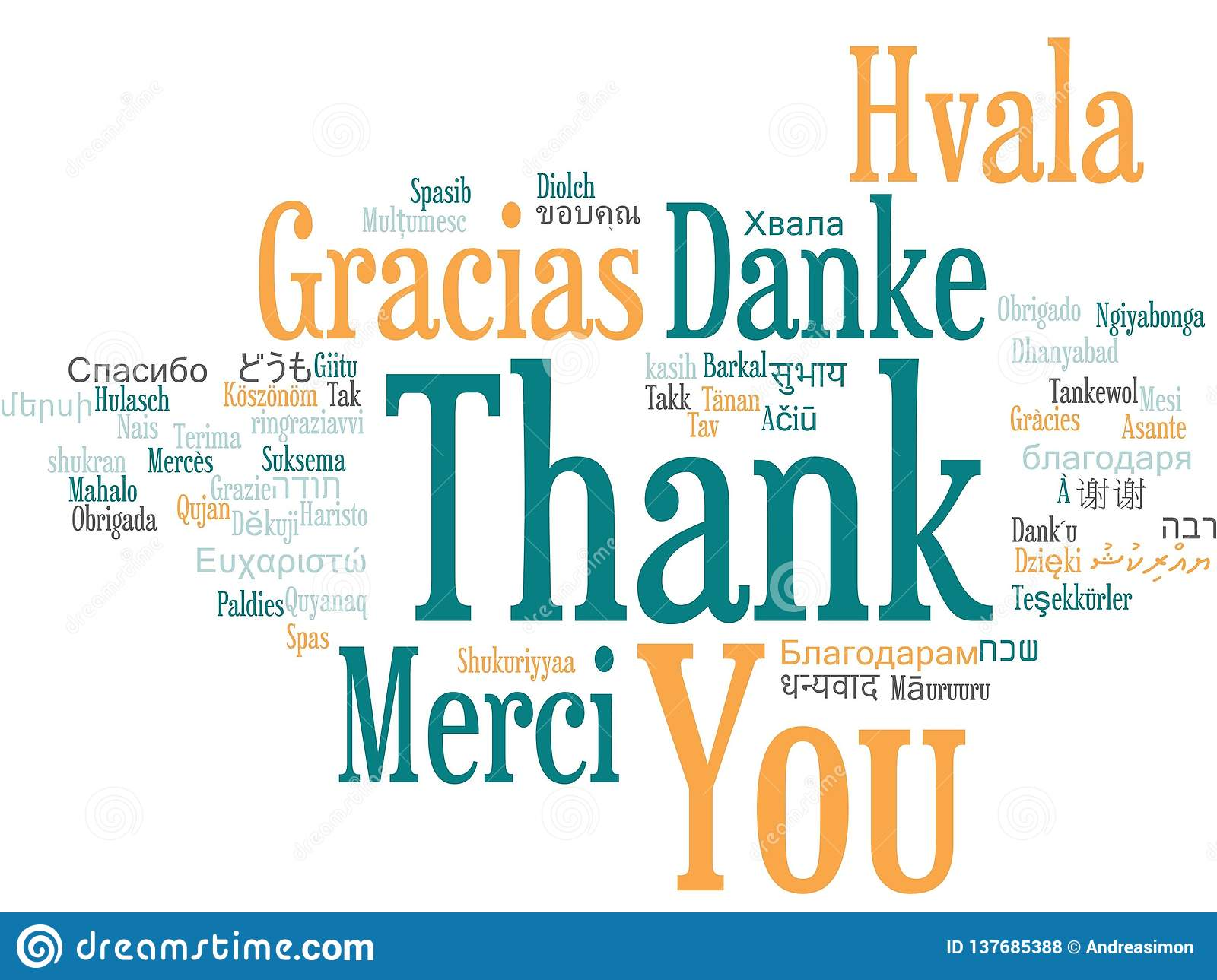 df214ca2ab5 Thank You Word Cloud stock illustration. Illustration of different ...