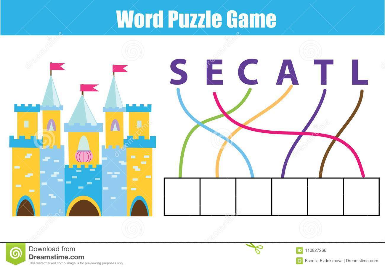 photo regarding Printable Vocabulary Game identified as Phrases Puzzle Youngsters Useful Video game. Space The Letters Inside