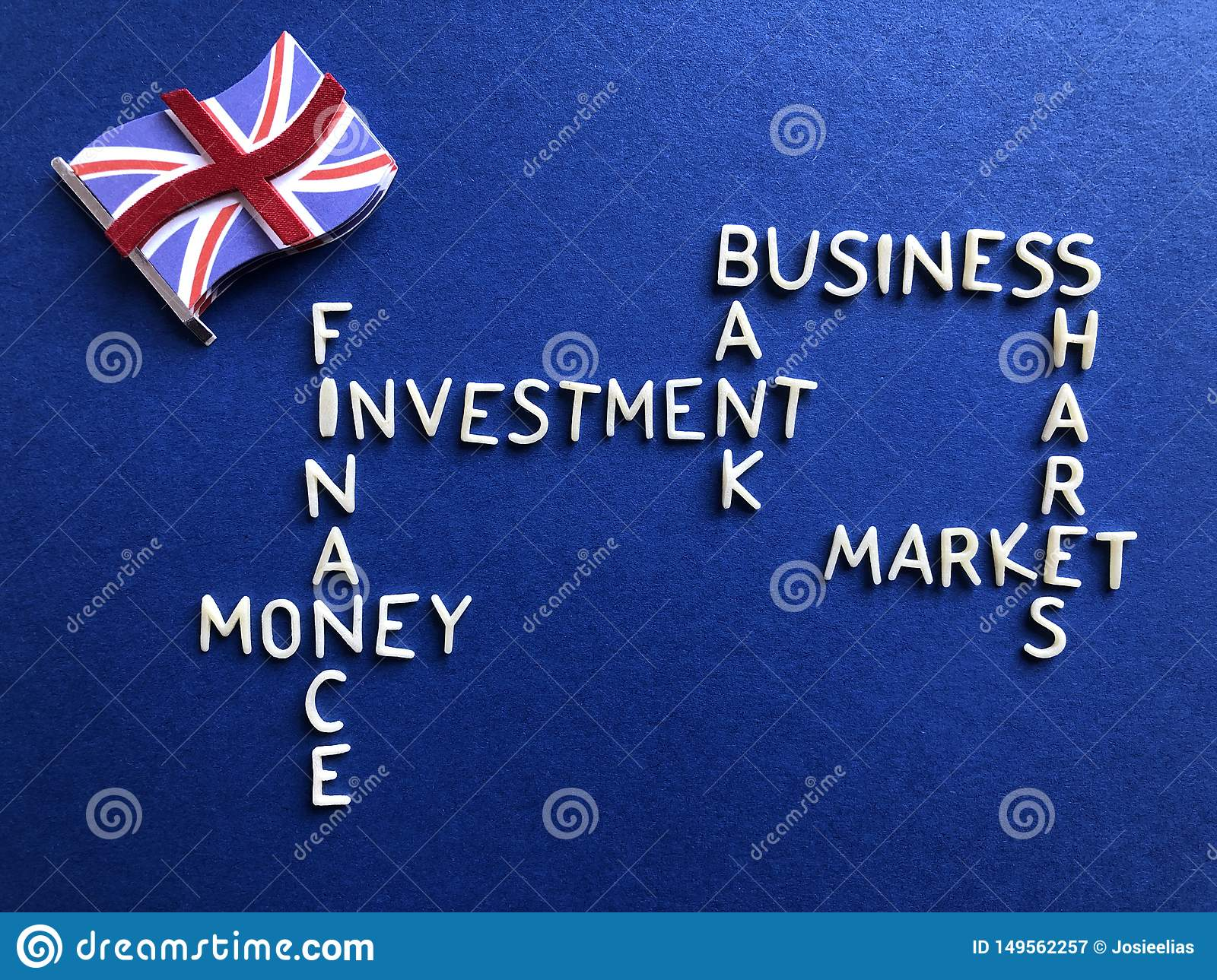 British business, banking and finance, creative concept