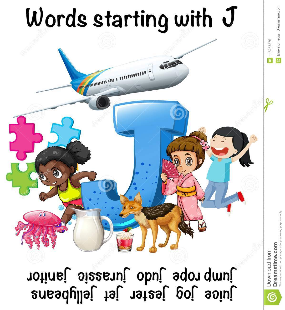 words starting with letter j