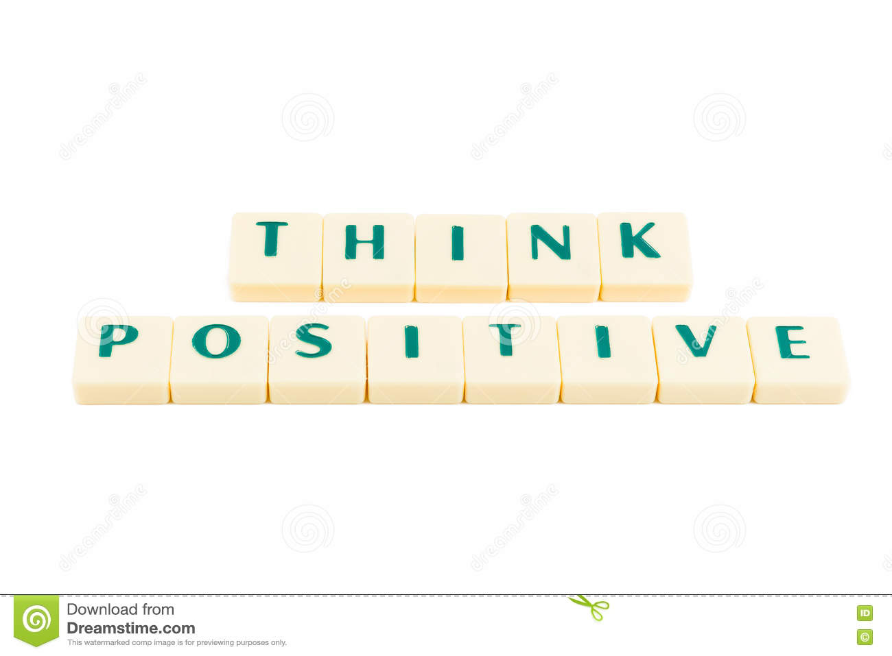 Words THINK POSITIVE