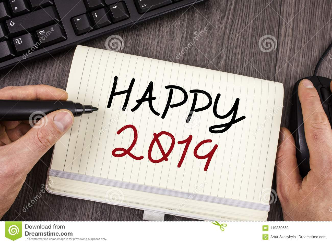 Word Writing Text Happy 2019. Business Concept For New Year ...