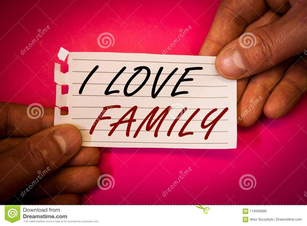 Word Writing Text I Love Family  Business Concept For Good