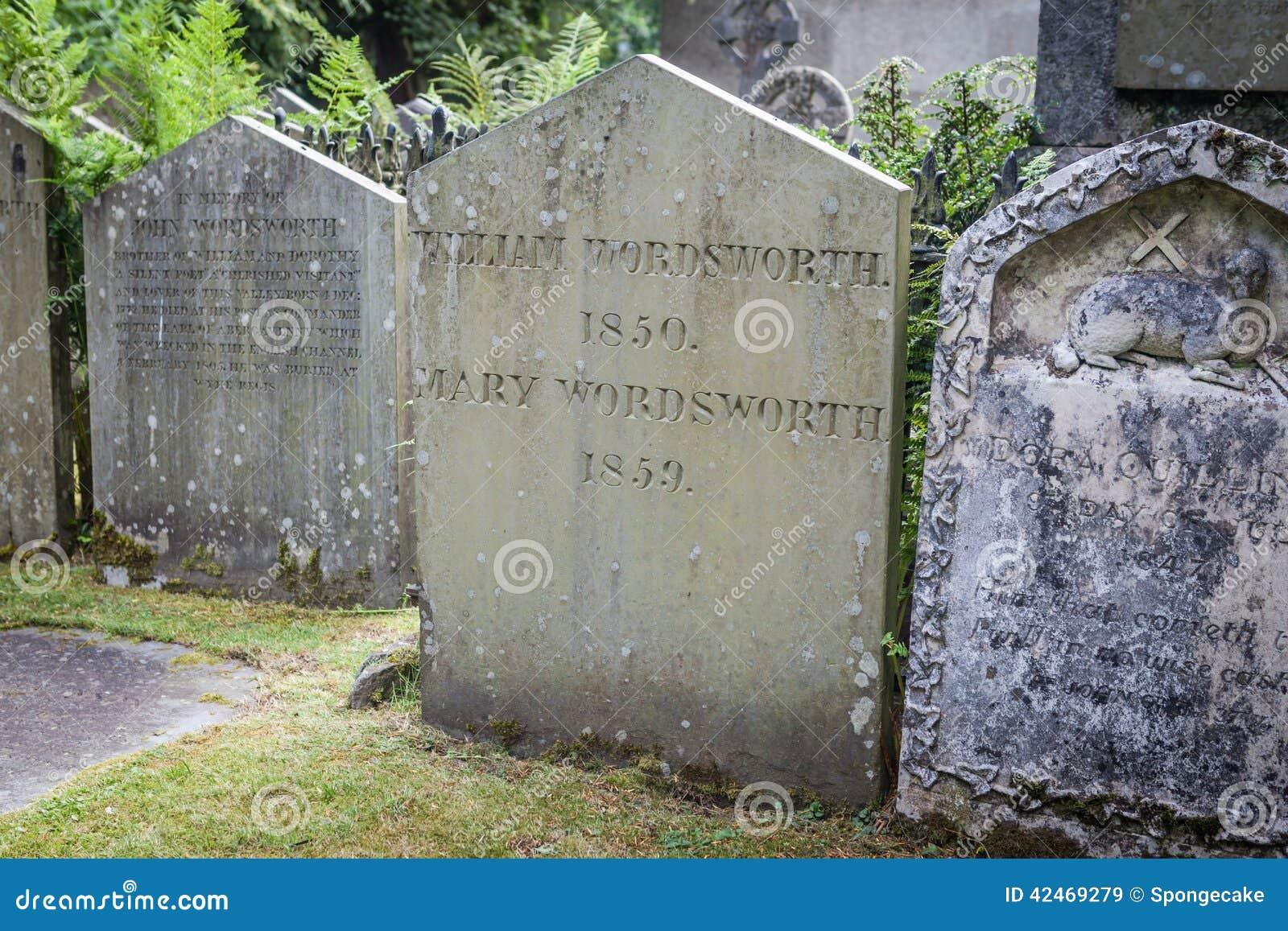 Wordsworth-Grab in Grasmere, Großbritannien