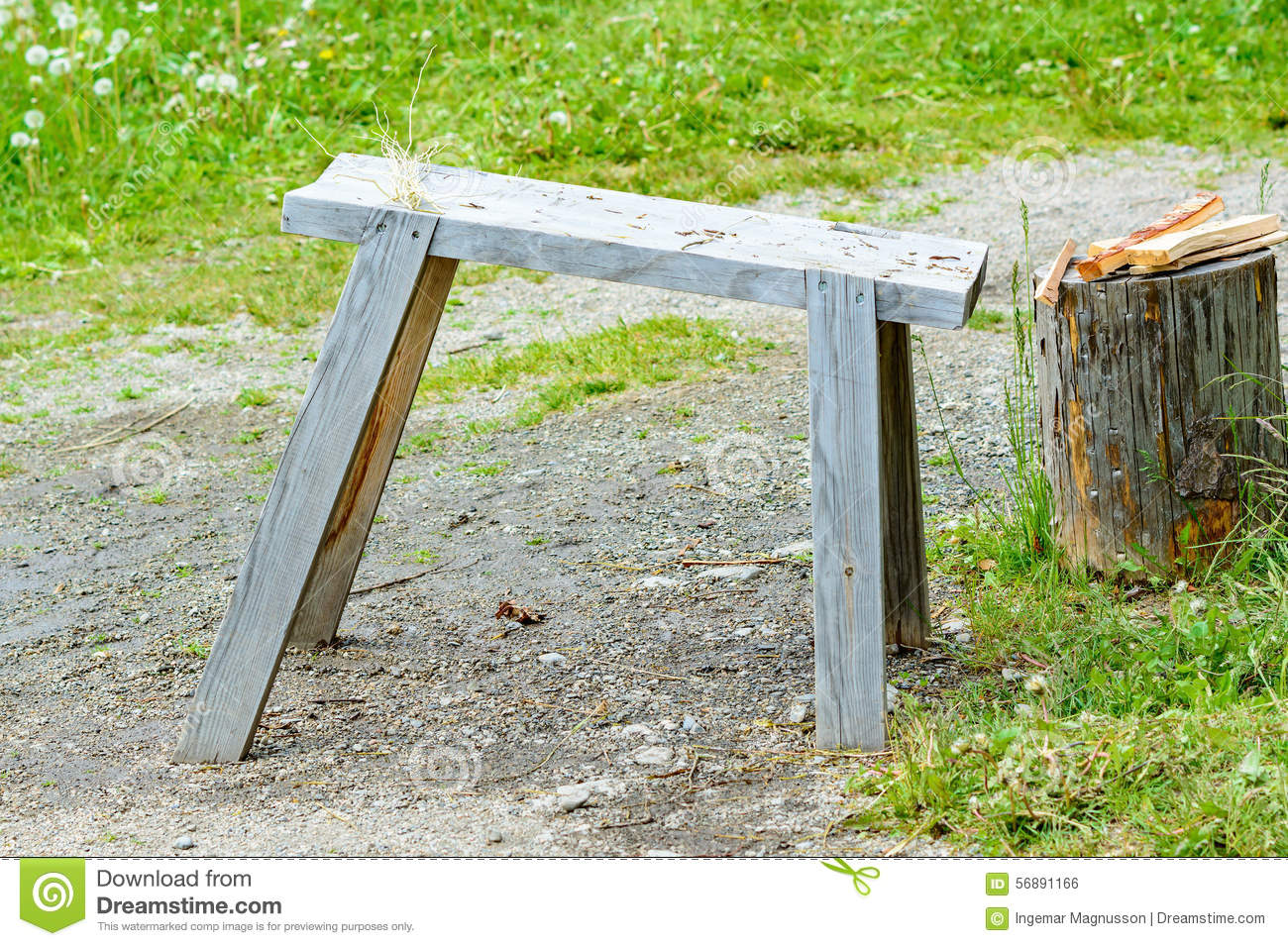 Prime Work Bench Stock Photo Image Of Homemade Wood Firewood Beatyapartments Chair Design Images Beatyapartmentscom