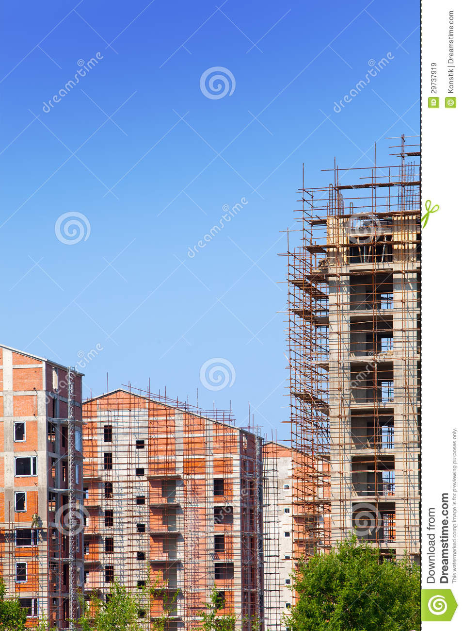 Building site in a clear sunny day royalty free stock for Builders in my area
