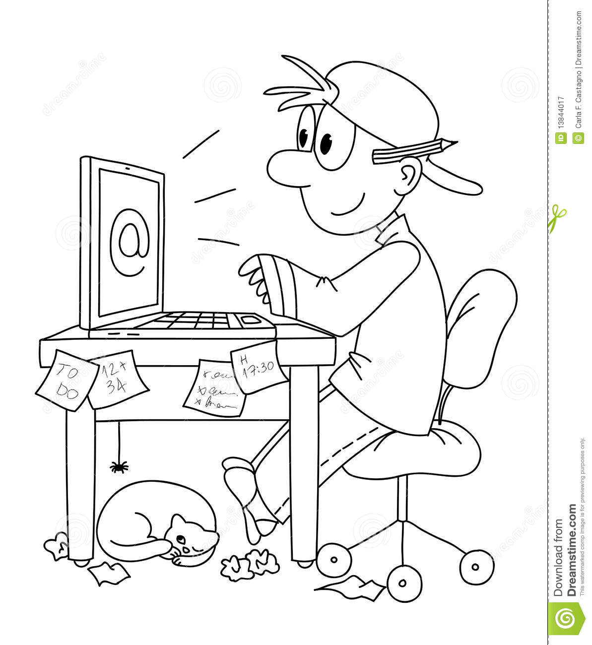 work on computer royalty free stock photography