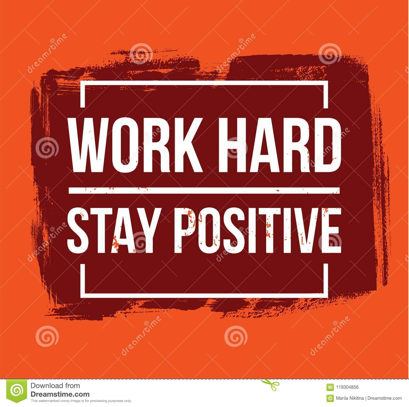 work hard stay positive motivational quotes stock vector