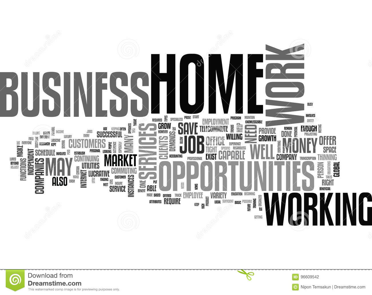 Work At Home Business Opportunities Thrive In Tight Job Market Word ...
