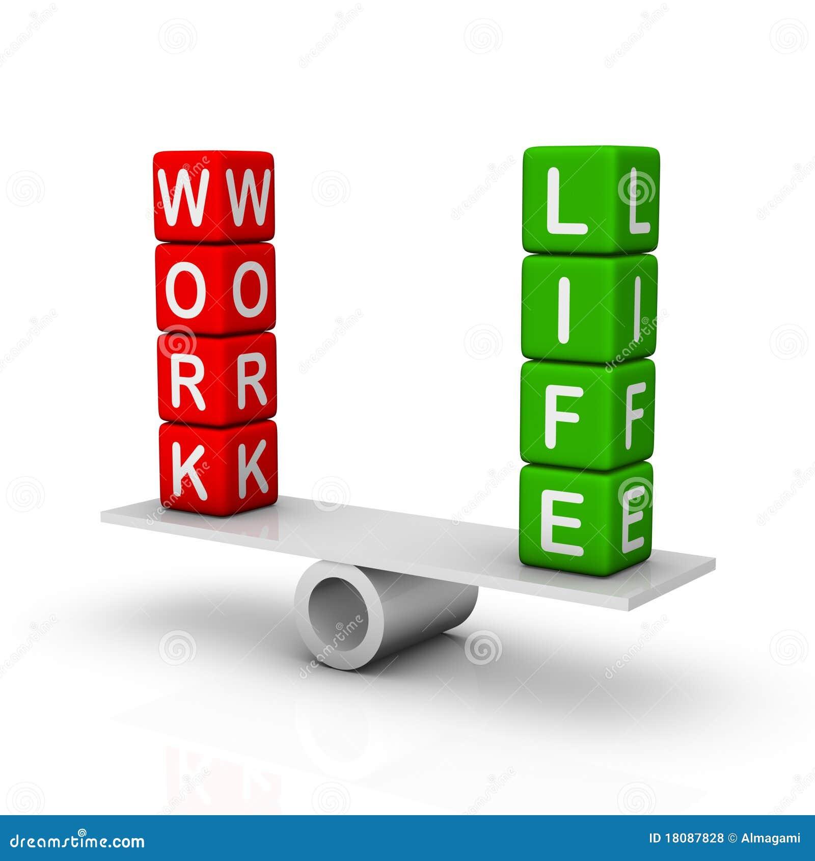 Work And Life Balance Royalty Free Stock Photos