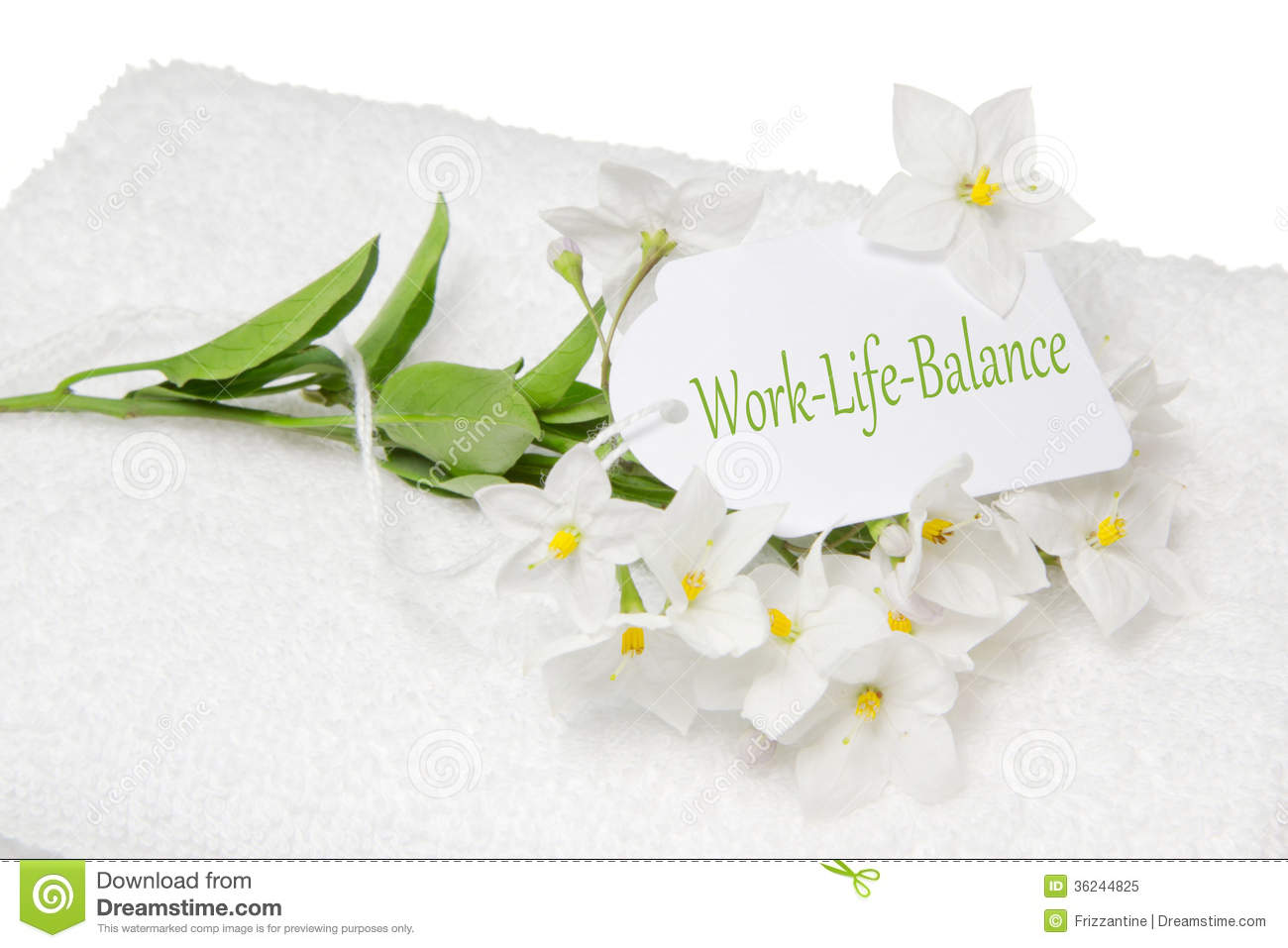 Work Life Balance Spa Decoration With White Jasmine And A