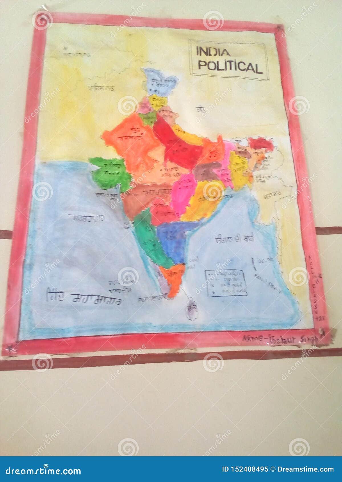 Work Map Indian Political Map Indian Political Editorial ...