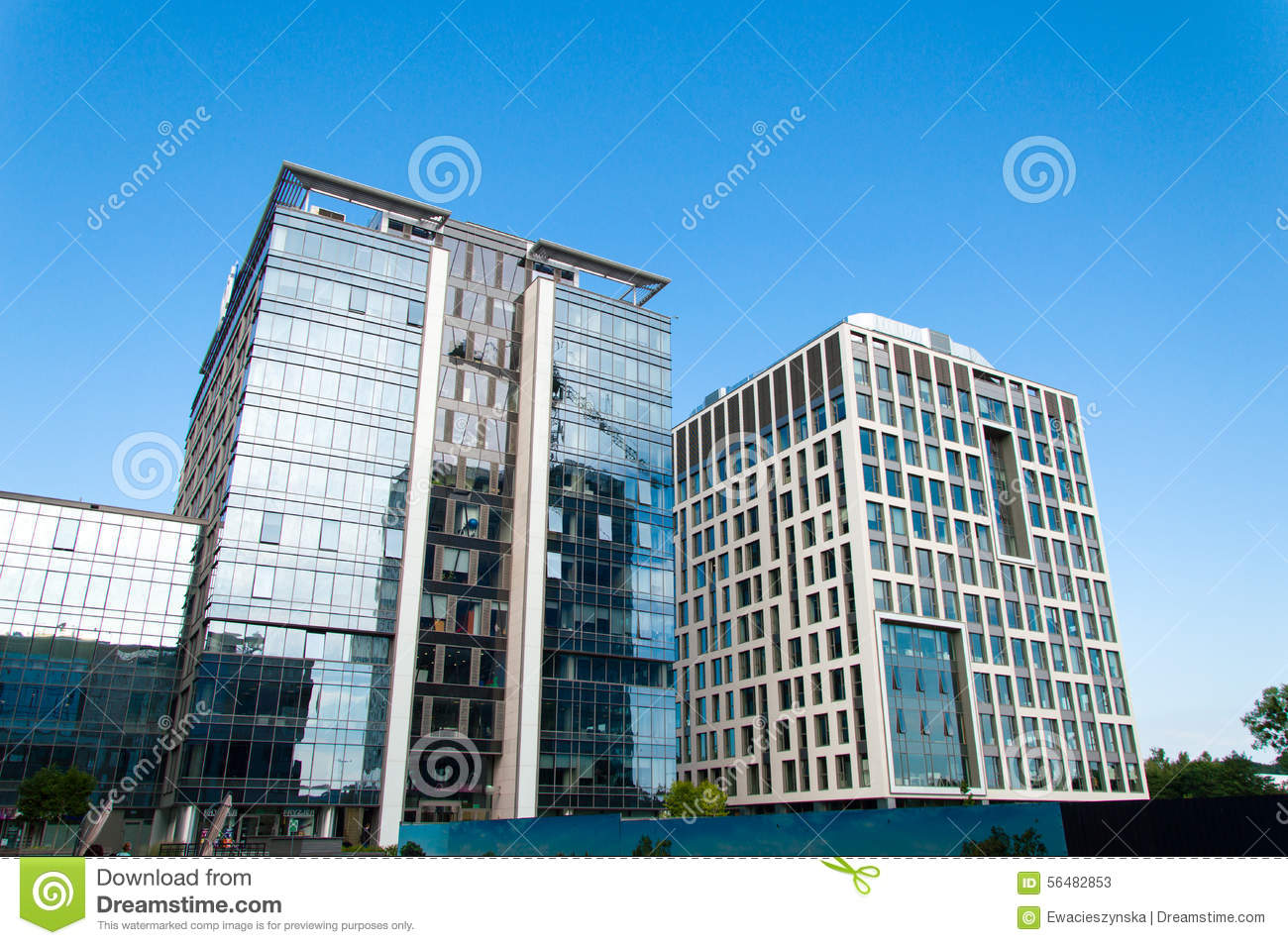 Work places at the new modern office buildings editorial for New modern buildings