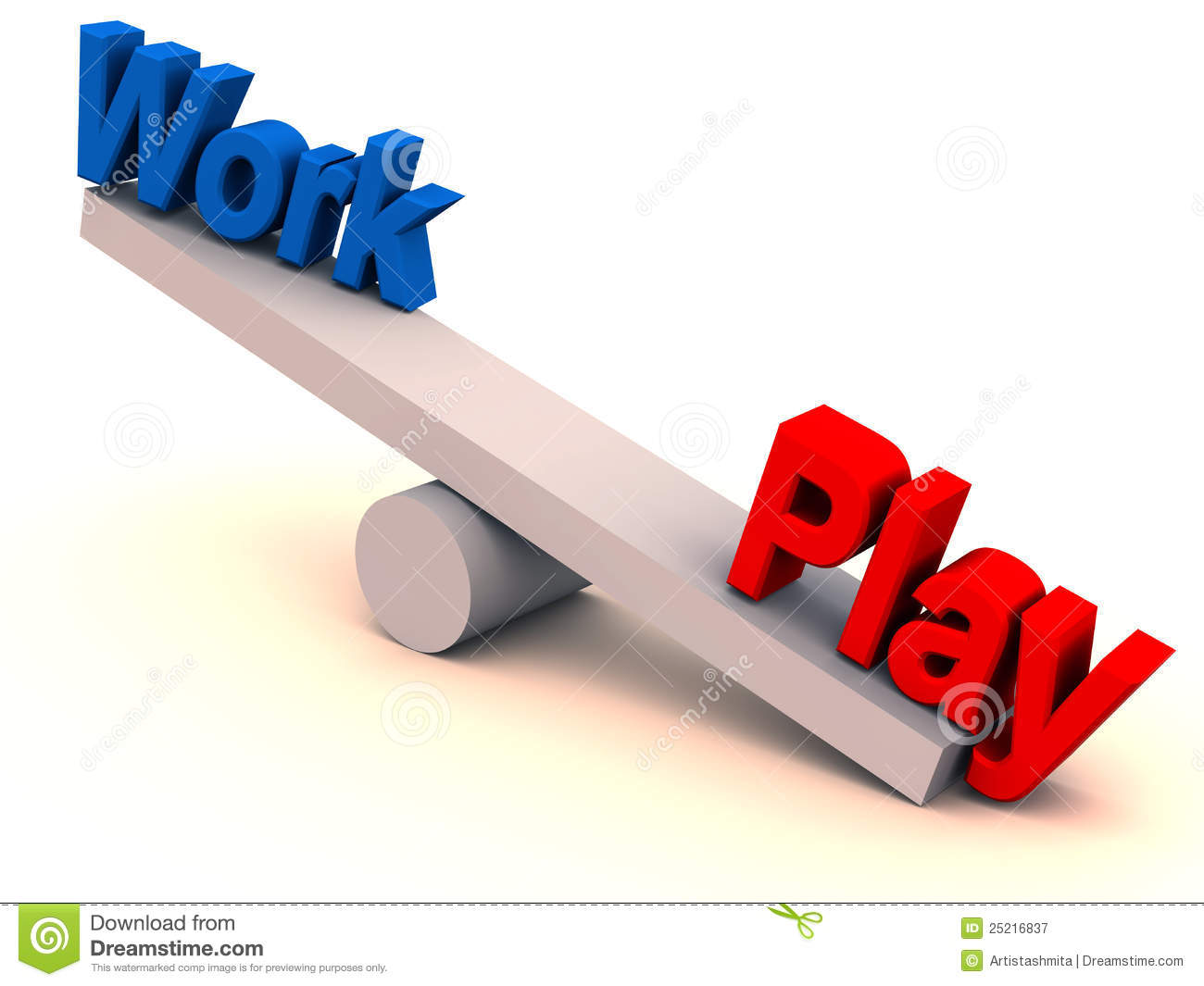 Work play balance in life stock illustration. Image of ...