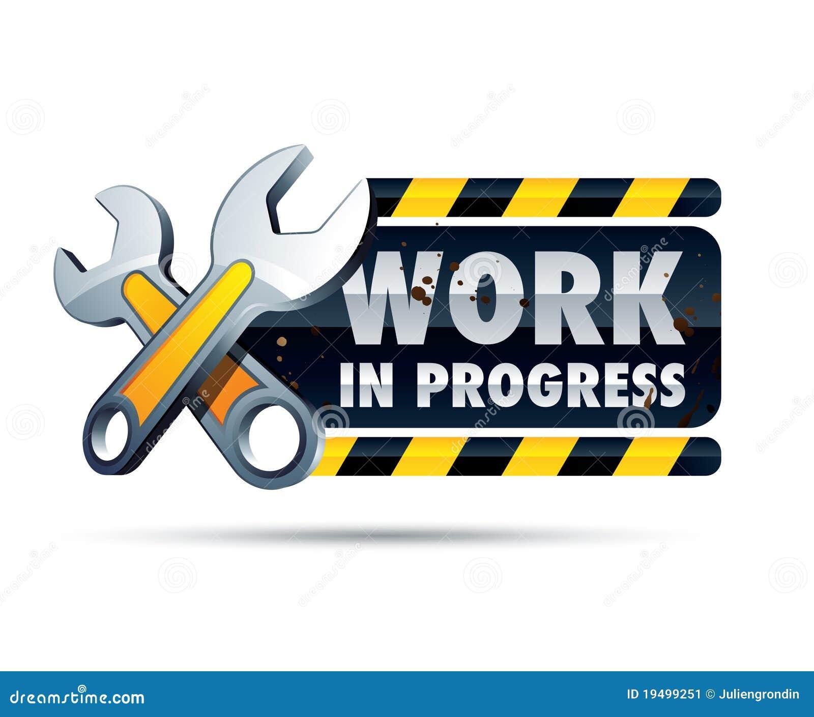 Work In Progress Sign Stock Image - Image: 19499251