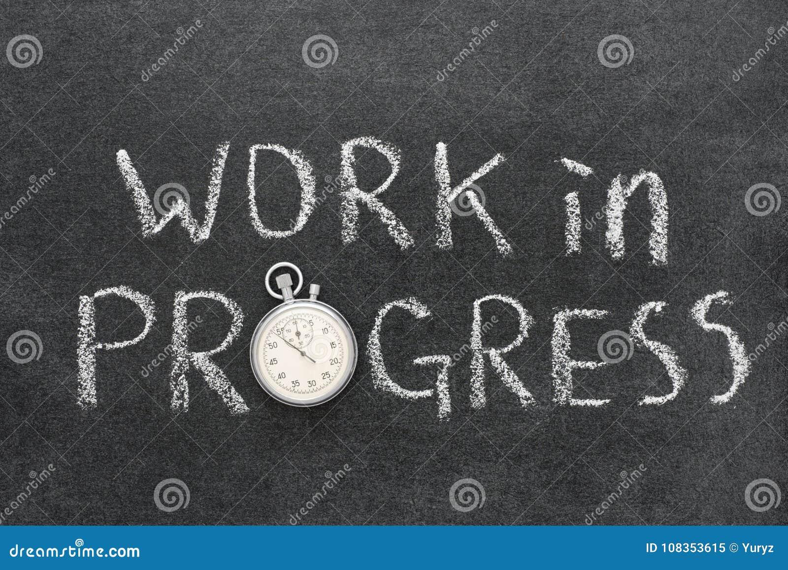 Download Work in progress stock image. Image of clock, action - 108353615