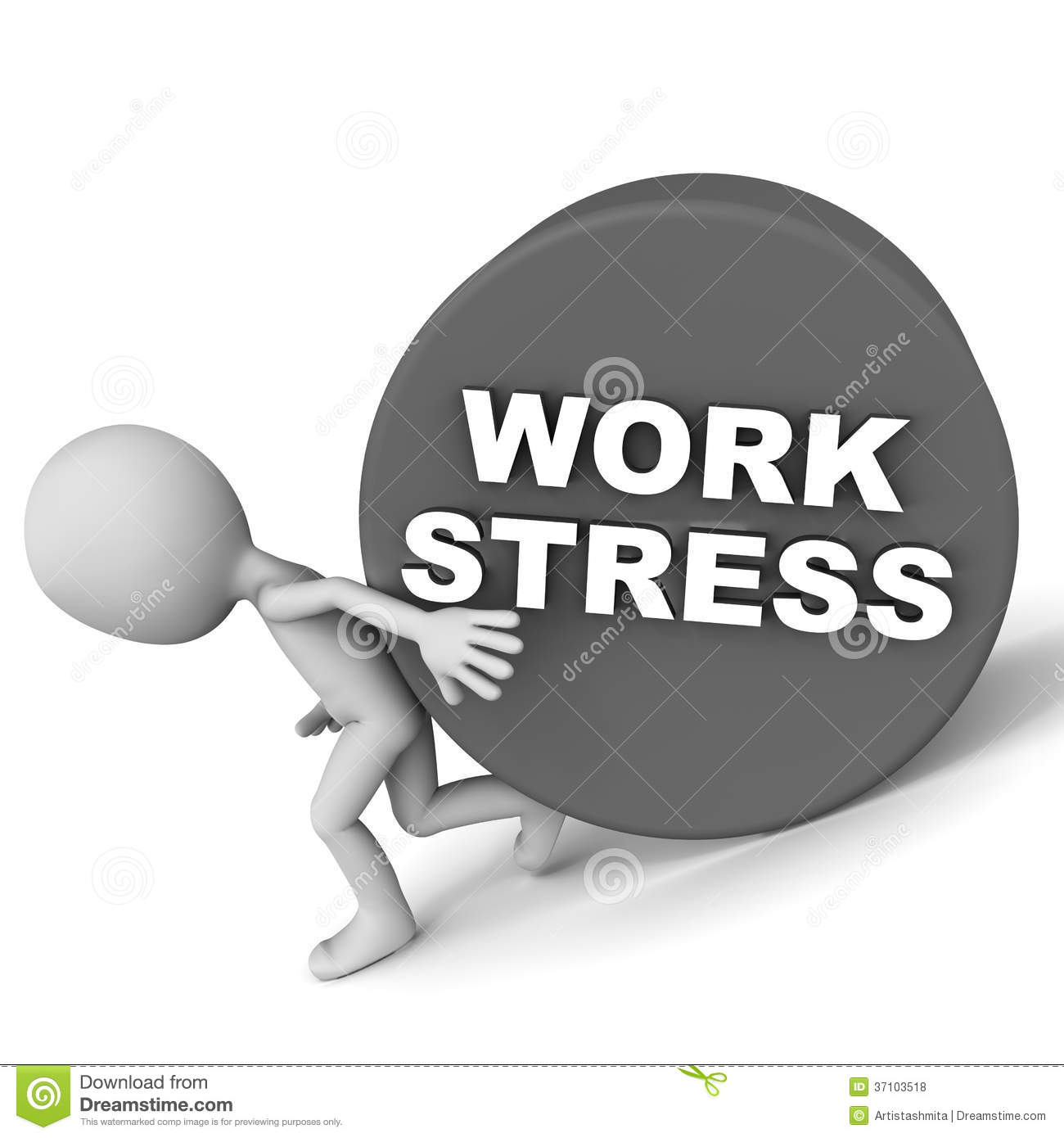 how to find work stress