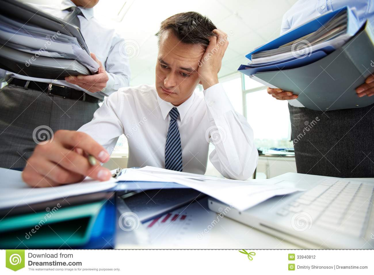 Pile Of Reports : Work rush stock photography image