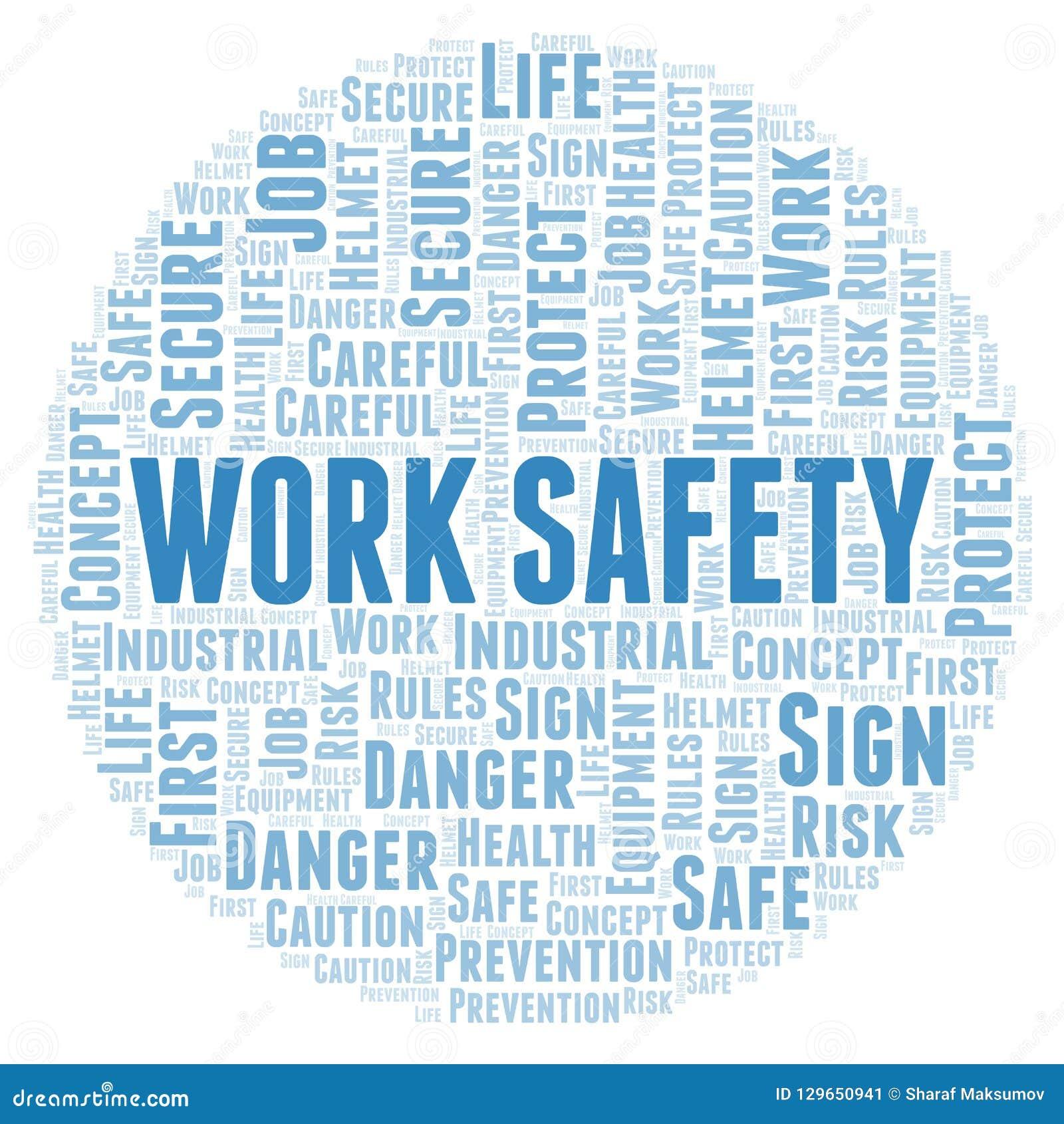 Work Safety word cloud.