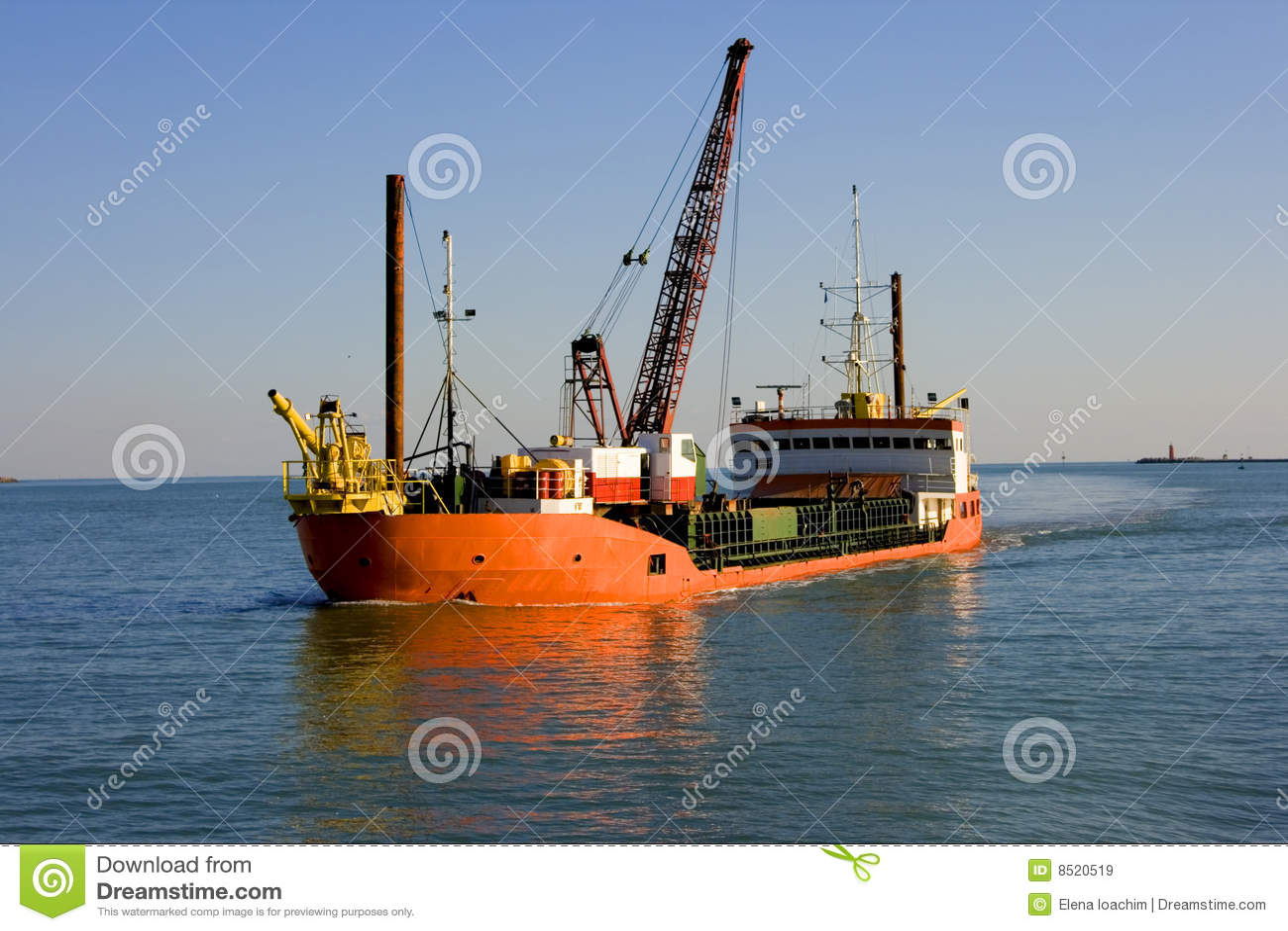 Work ship stock image. Image of drillship, well, crane - 8520519