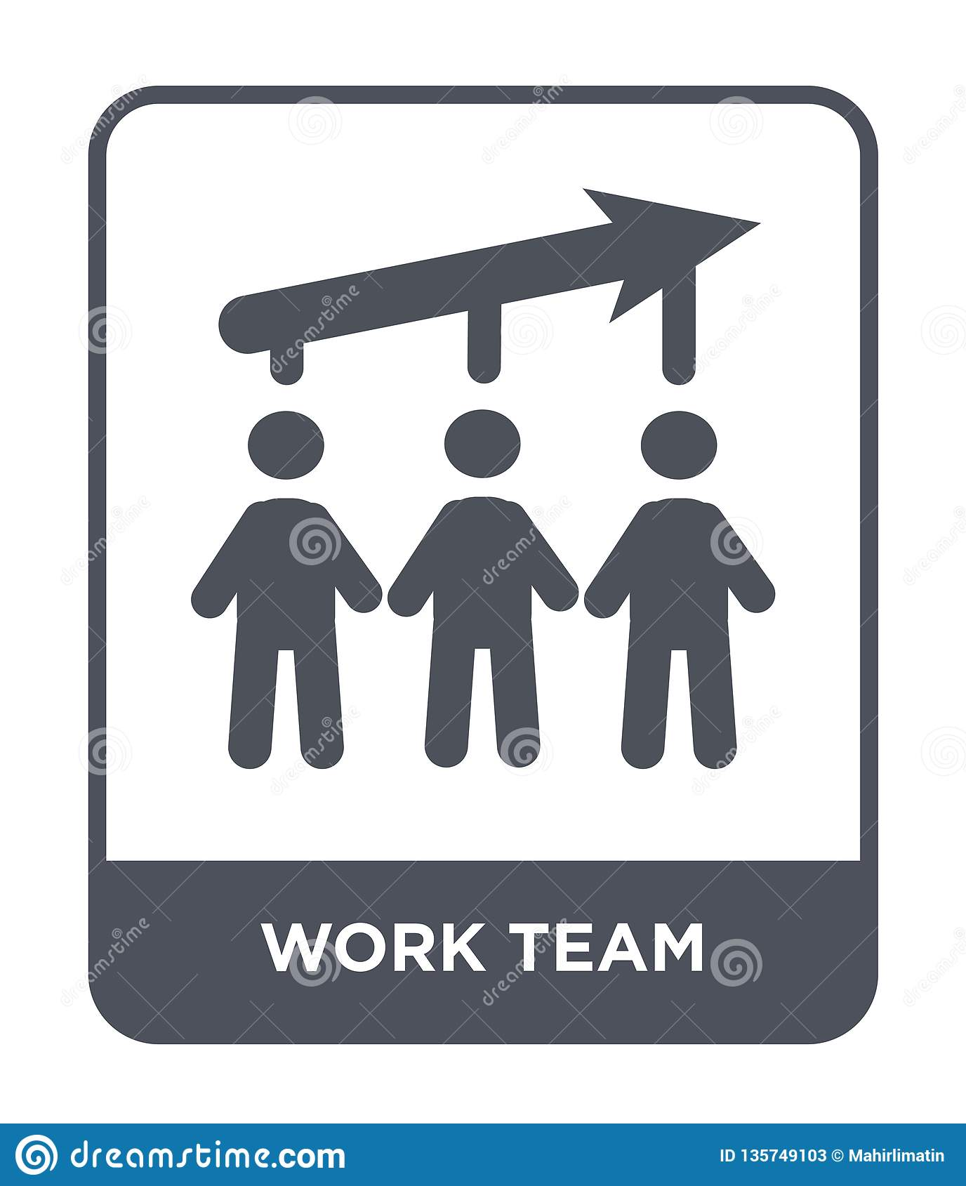 work team icon in trendy design style. work team icon isolated on white background. work team vector icon simple and modern flat