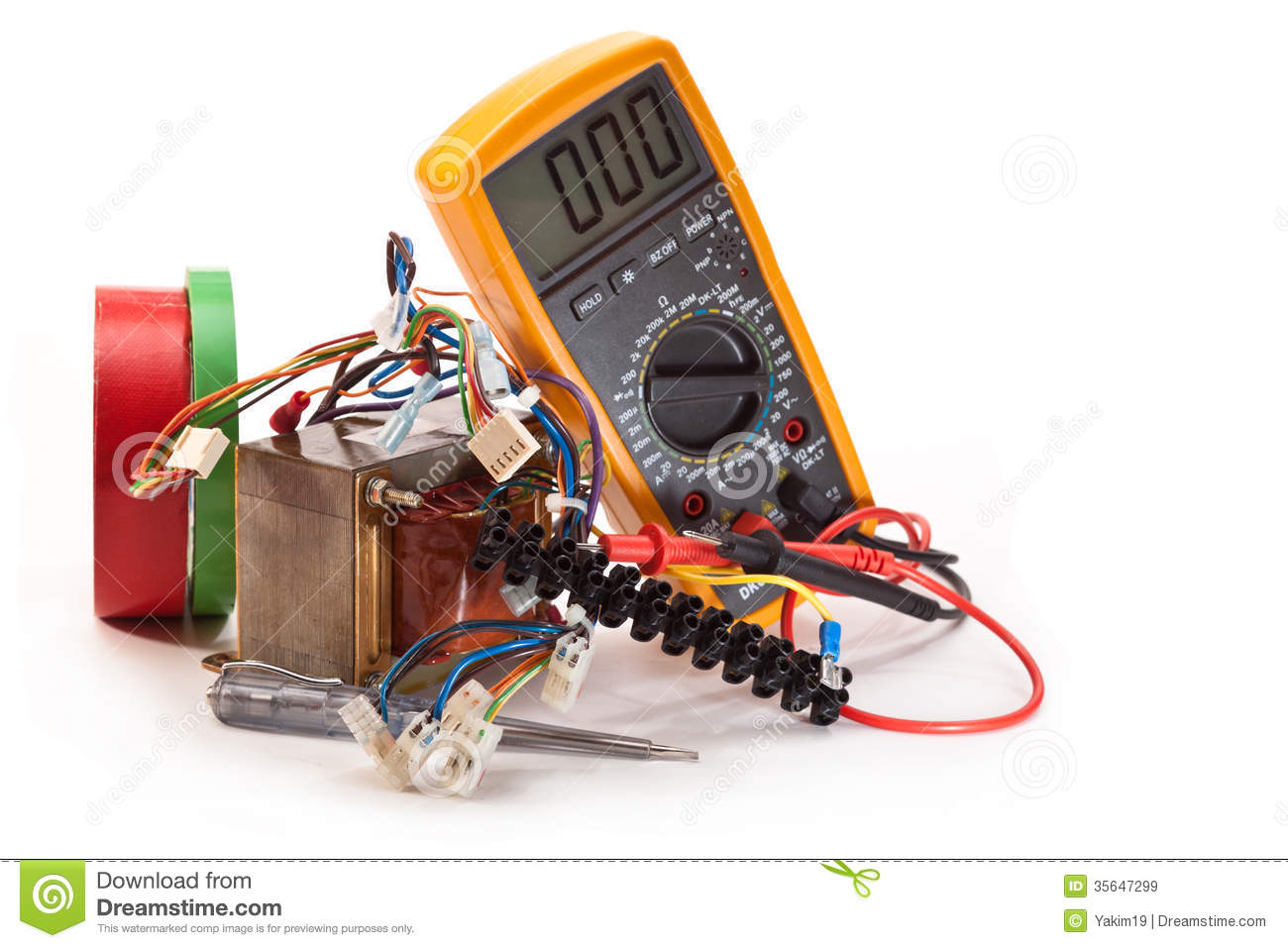work to repair electric royalty free stock images