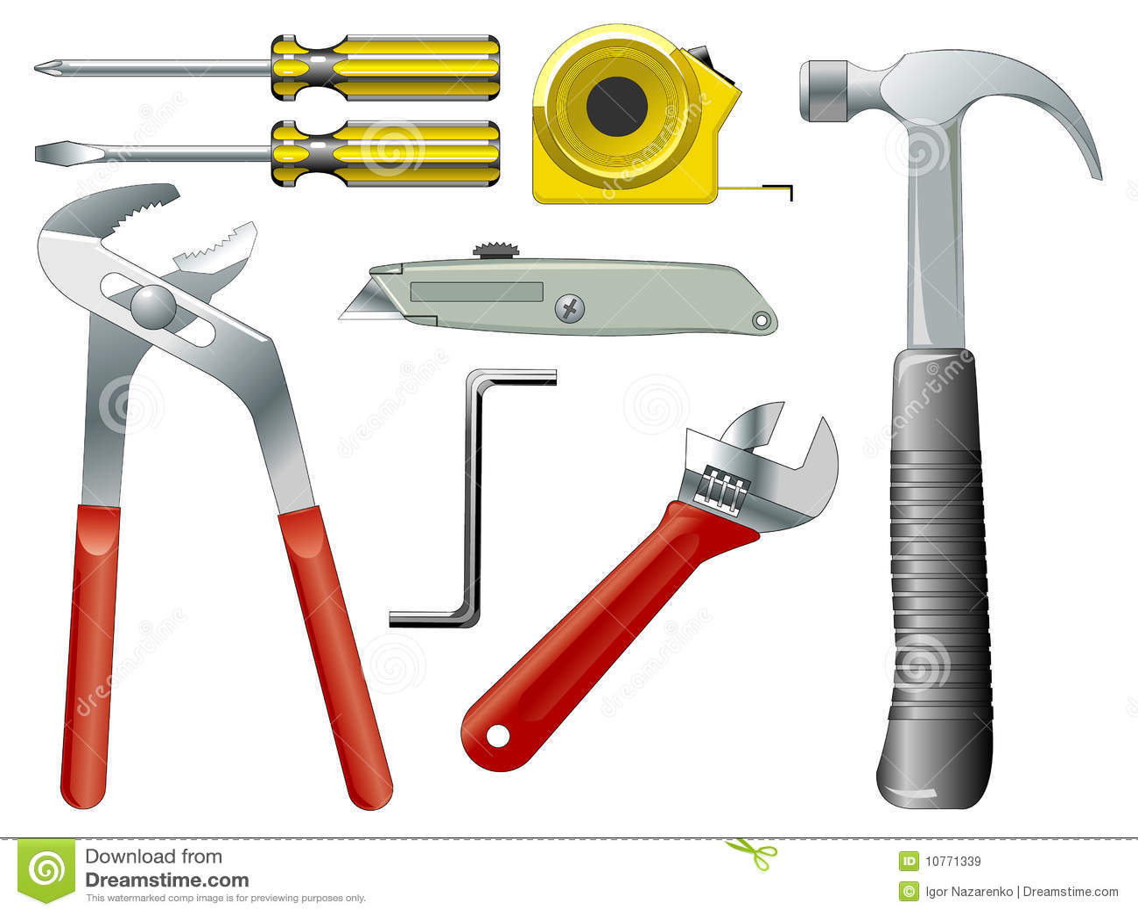 Work tools stock vector. Illustration of illustration - 10771339