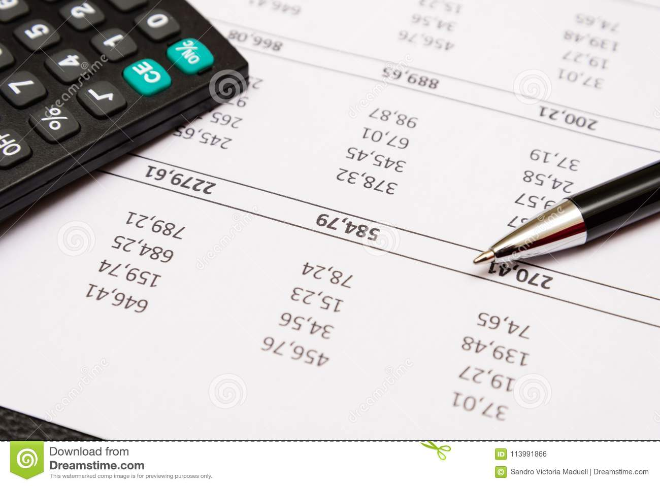 Another Day Of Accounting Work Stock Photo Image Of Economics Calculator 113991866