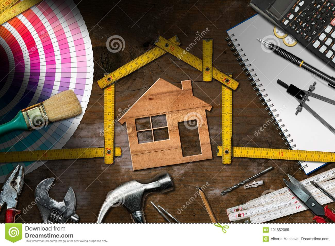 Work Tools and Model House - Home Improvement