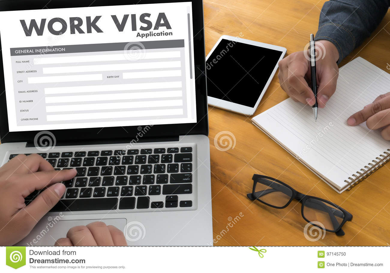 WORK Visa Application Employment Recruitment to Work businessma