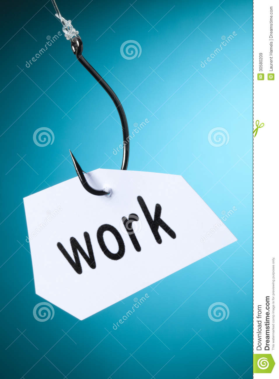 work word on hook stock image image of practice emphasis 30580209