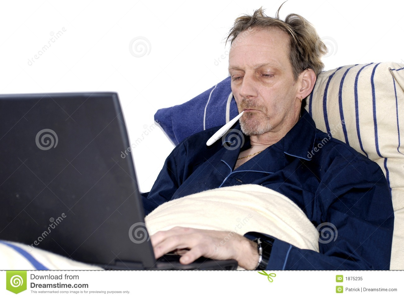 workaholic sick bed laptop 1875235