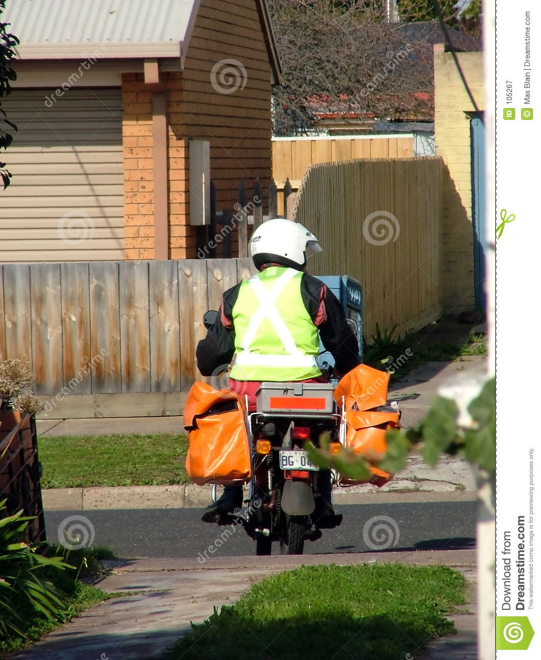 Download Worker stock image. Image of working, motobikes, delivery - 105267