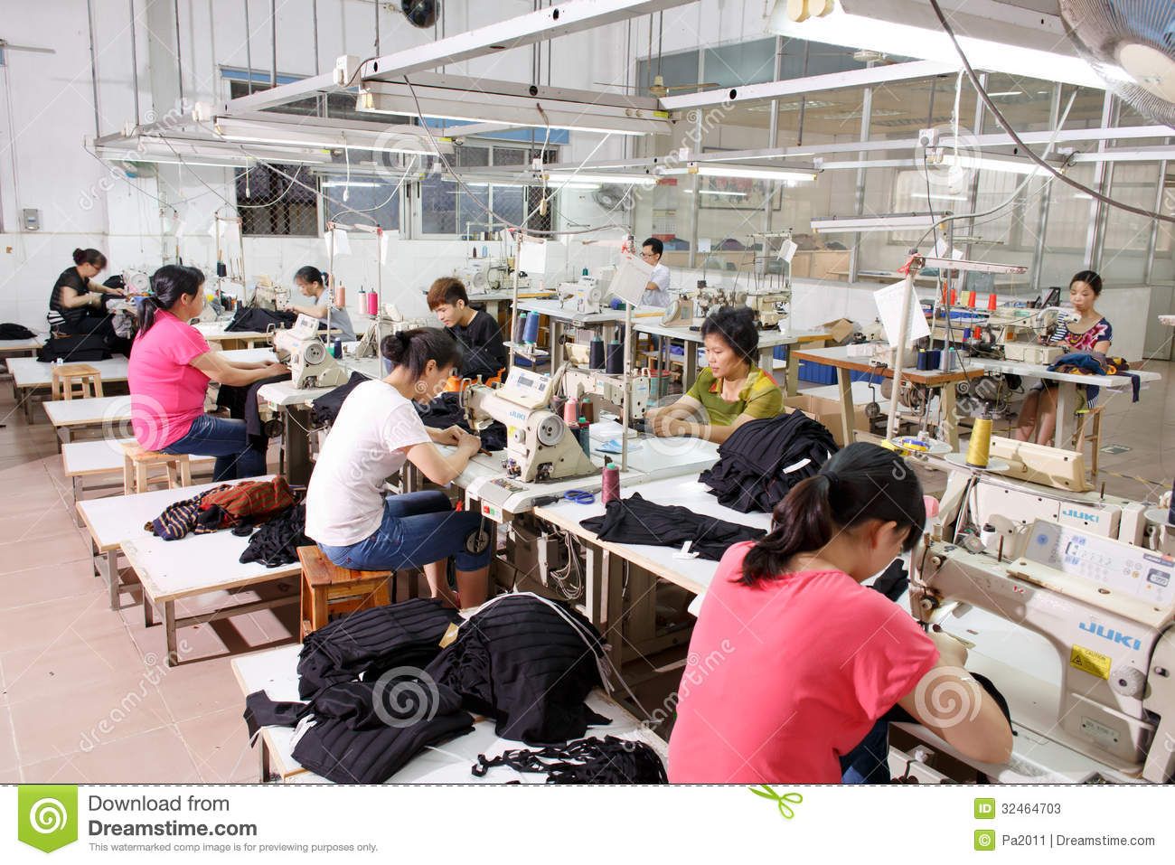 worker in a chinese garment factory editorial stock photo image 32464703. Black Bedroom Furniture Sets. Home Design Ideas