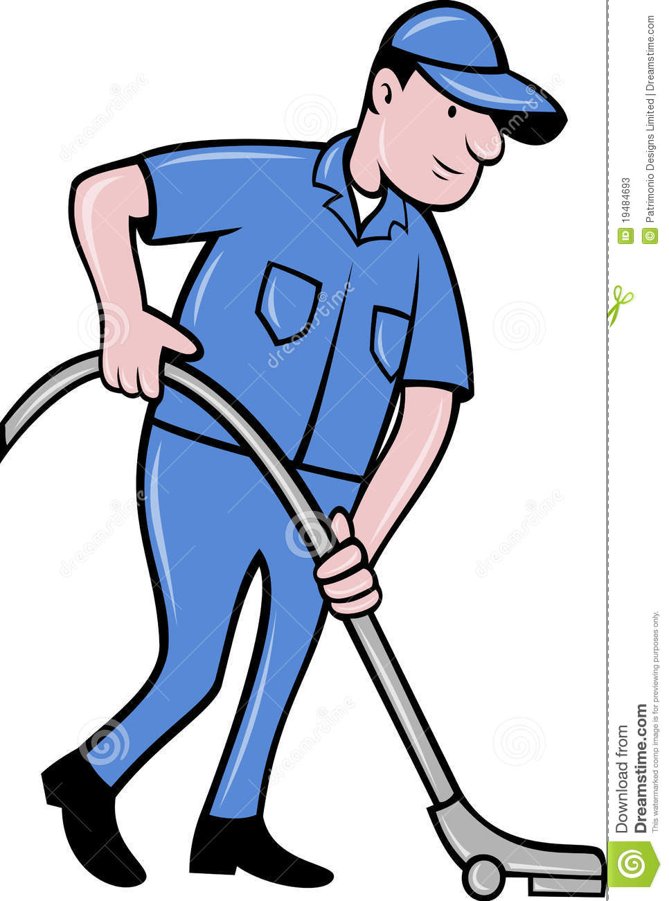 Vacuum cleaner clipart vacuum cleaner clip art - Cartoon Cleaner Cleaning Illustration Isolated Male Vacuum Worker Artwork