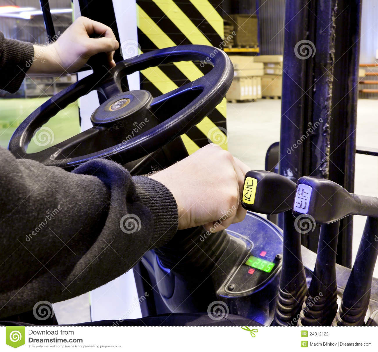Worker driver of a forklift
