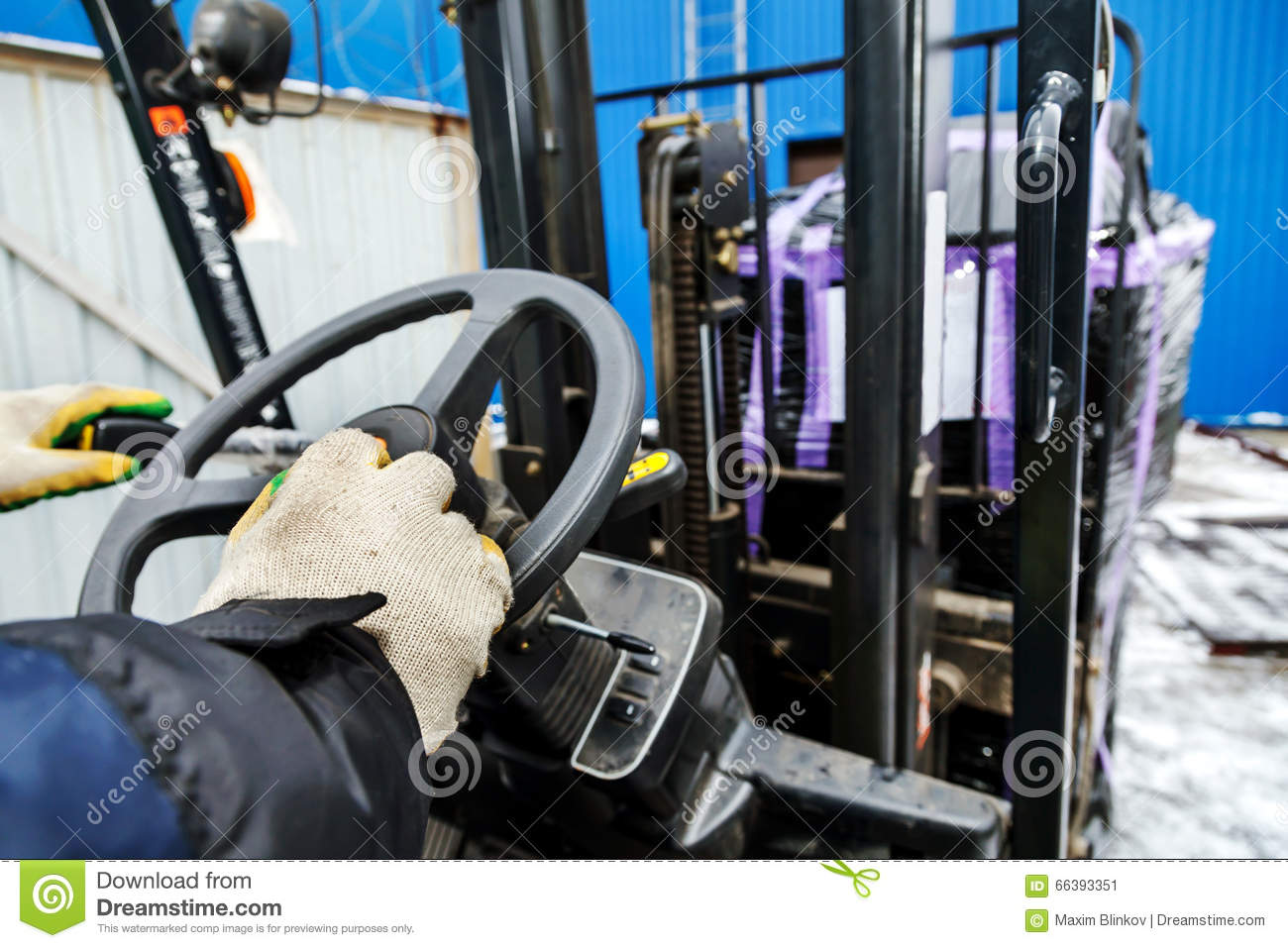 Worker driver of forklift