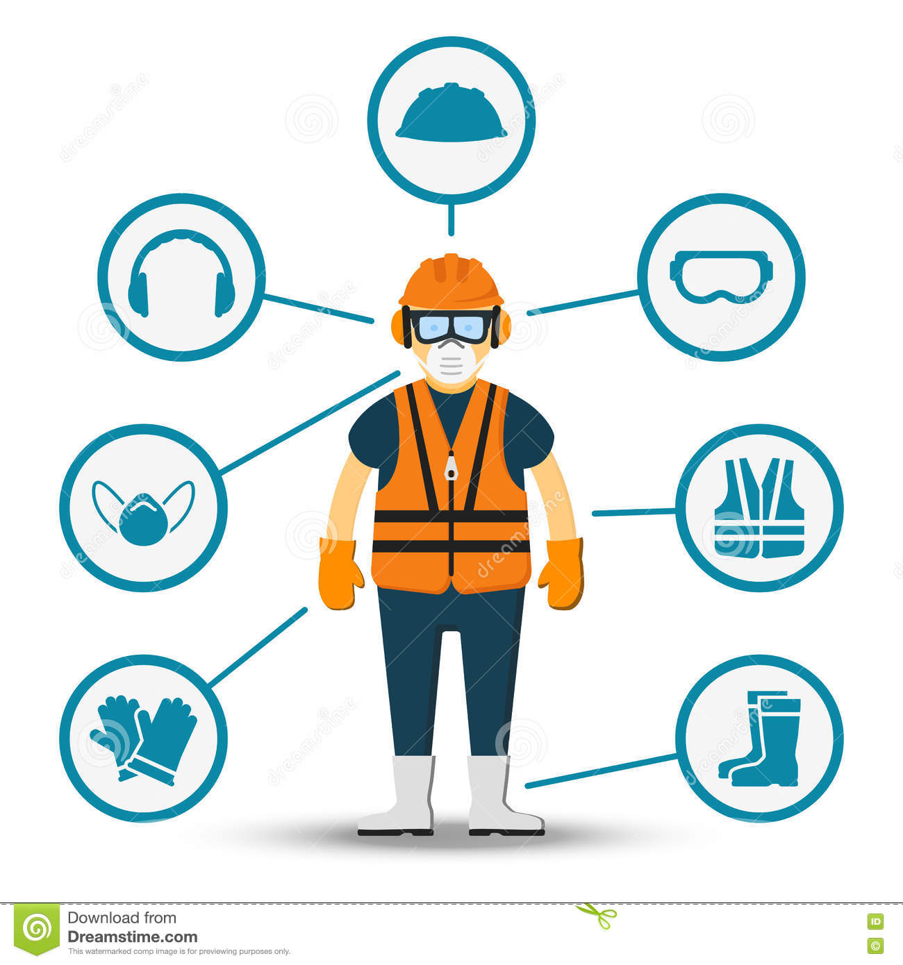 Workplace health and safety icons stock vector illustration of.