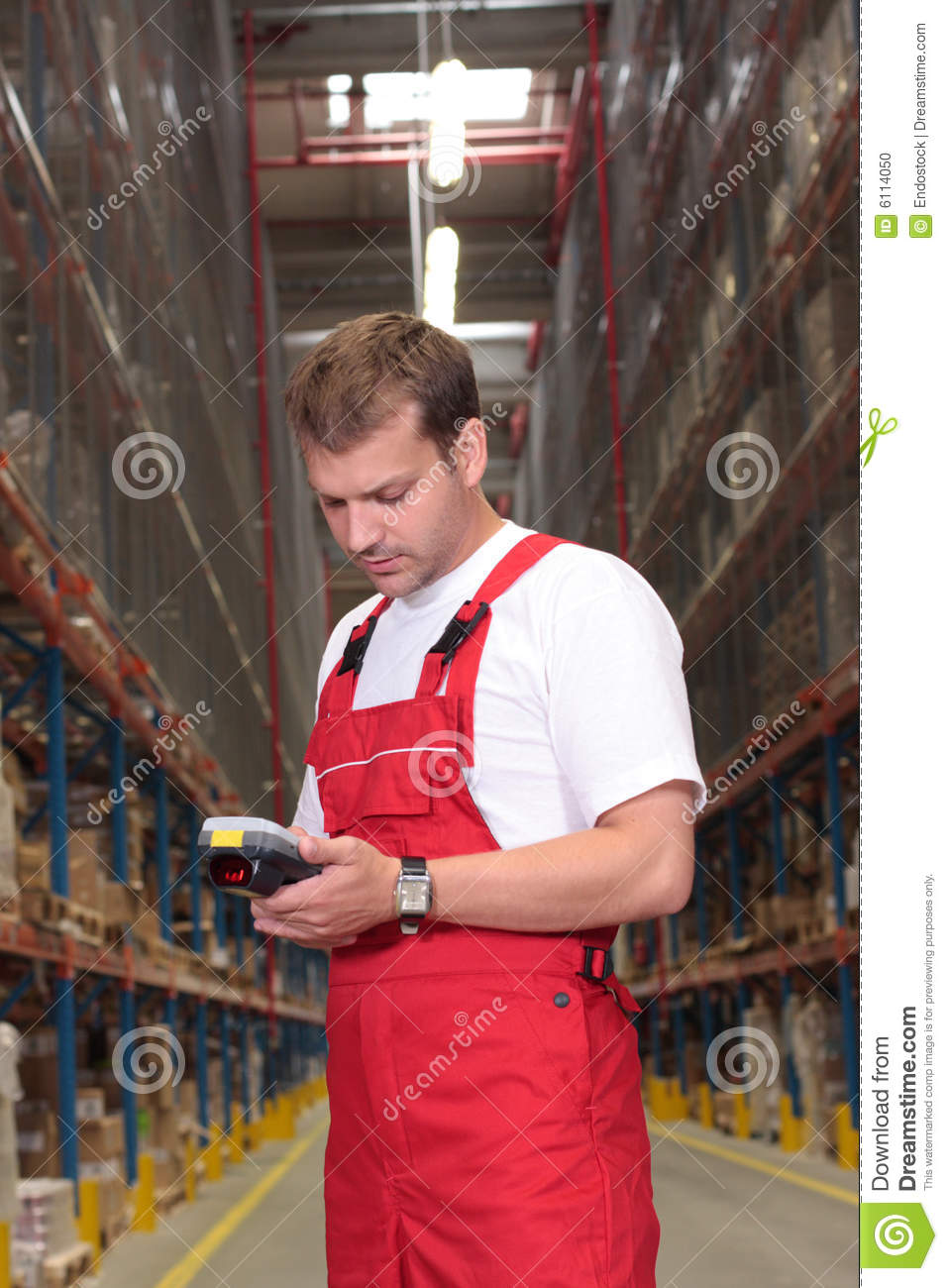 Worker with inventory device