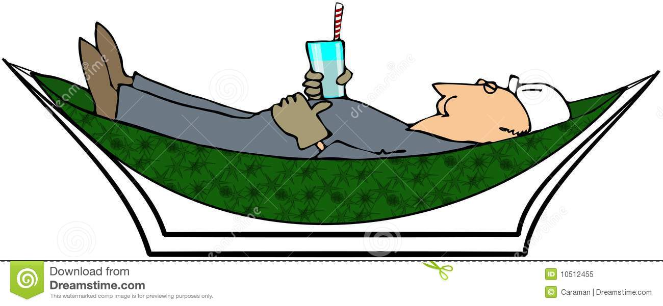 Worker Relaxing In A Hammock Royalty Free Stock Photo ...