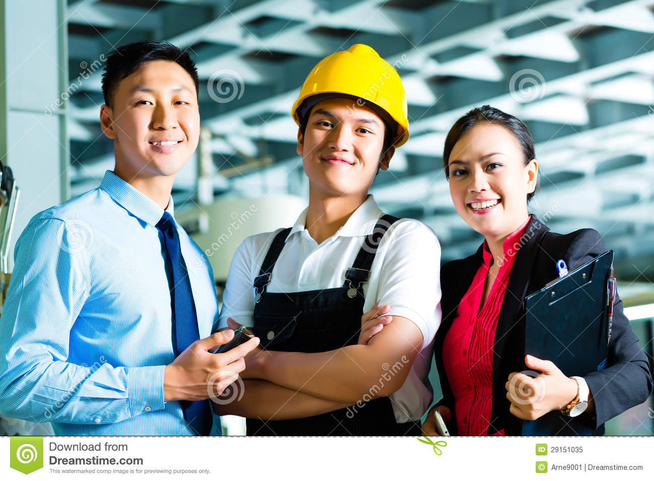 worker production manager and owner in factory - Fashion Production Manager