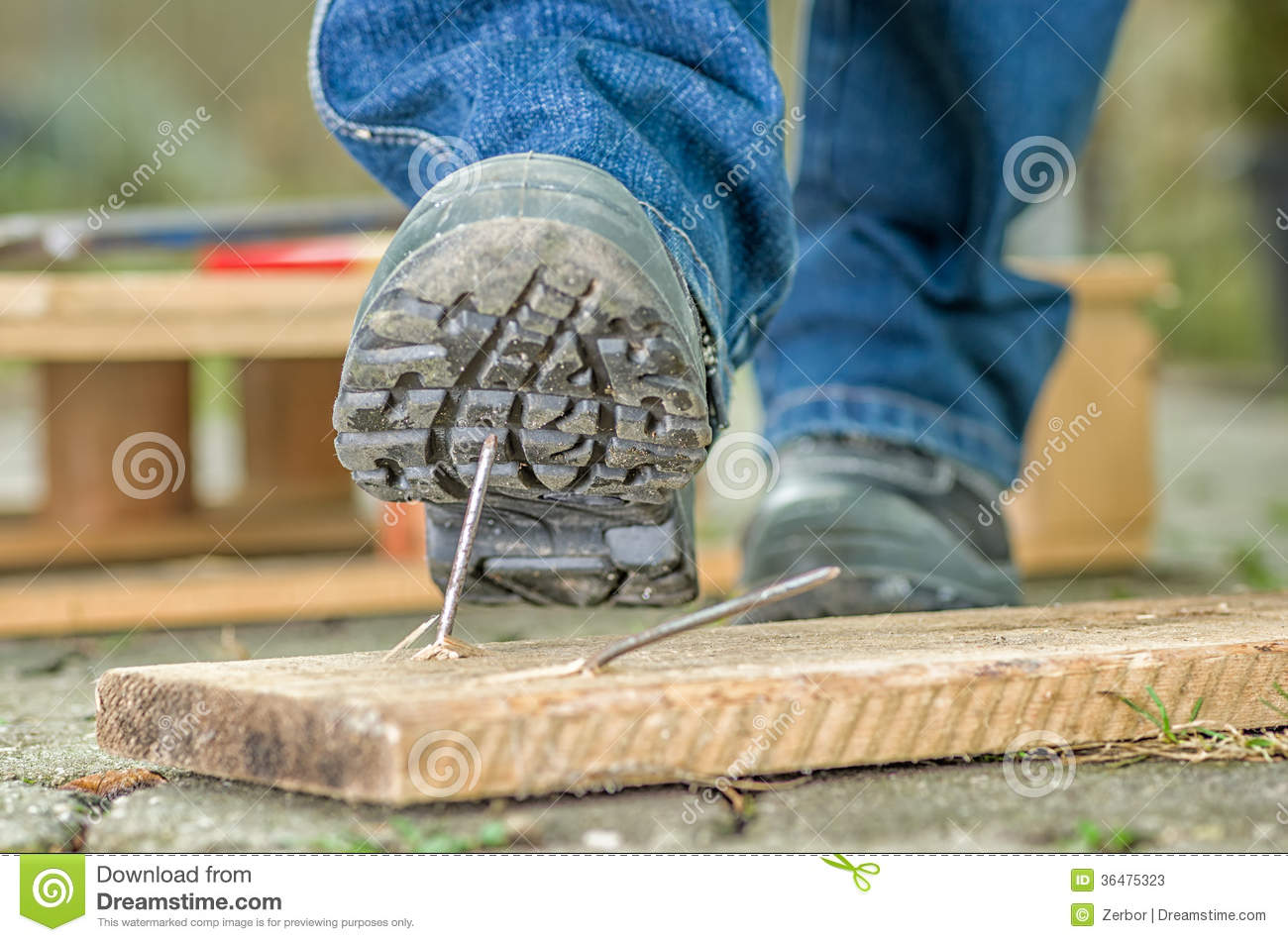 Worker With Safety Shoes Stock Image Image Of Pallet