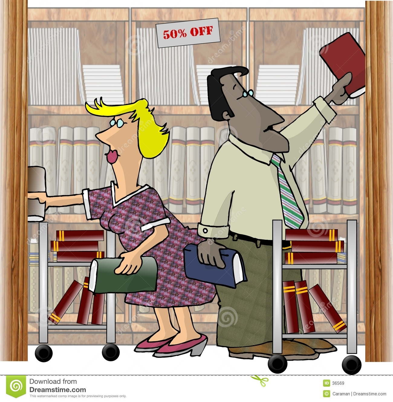 Workers in a Bookstore