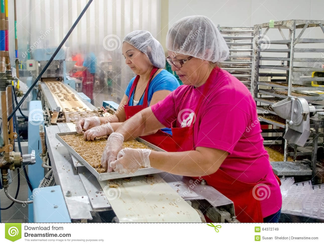 Chocolate Factory Employees Editorial Image