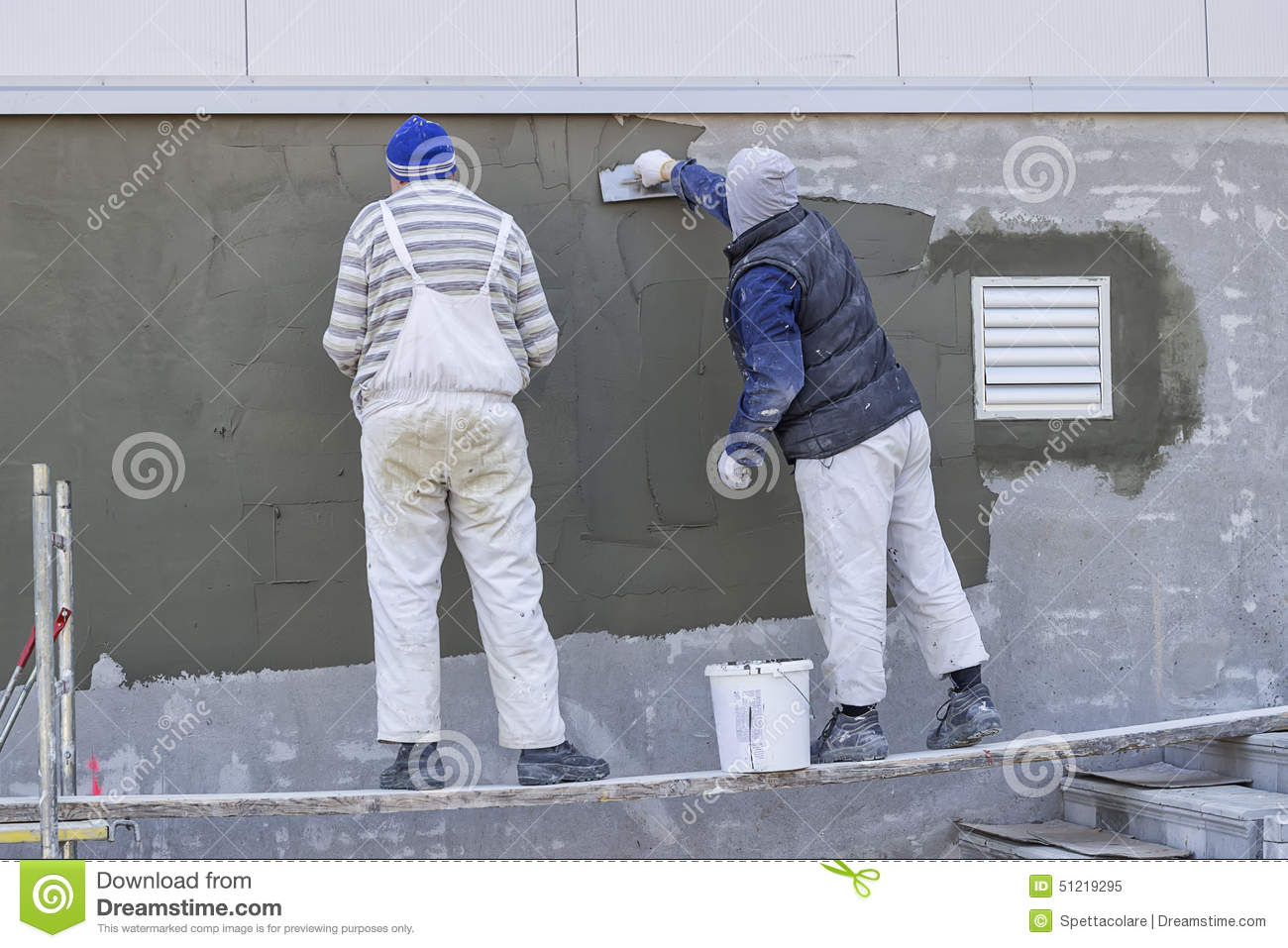 Wall Plastering Designs cement plaster services cement plaster service service provider from new delhi Workers Plastering A Outdoor Wall 3 Editorial Image