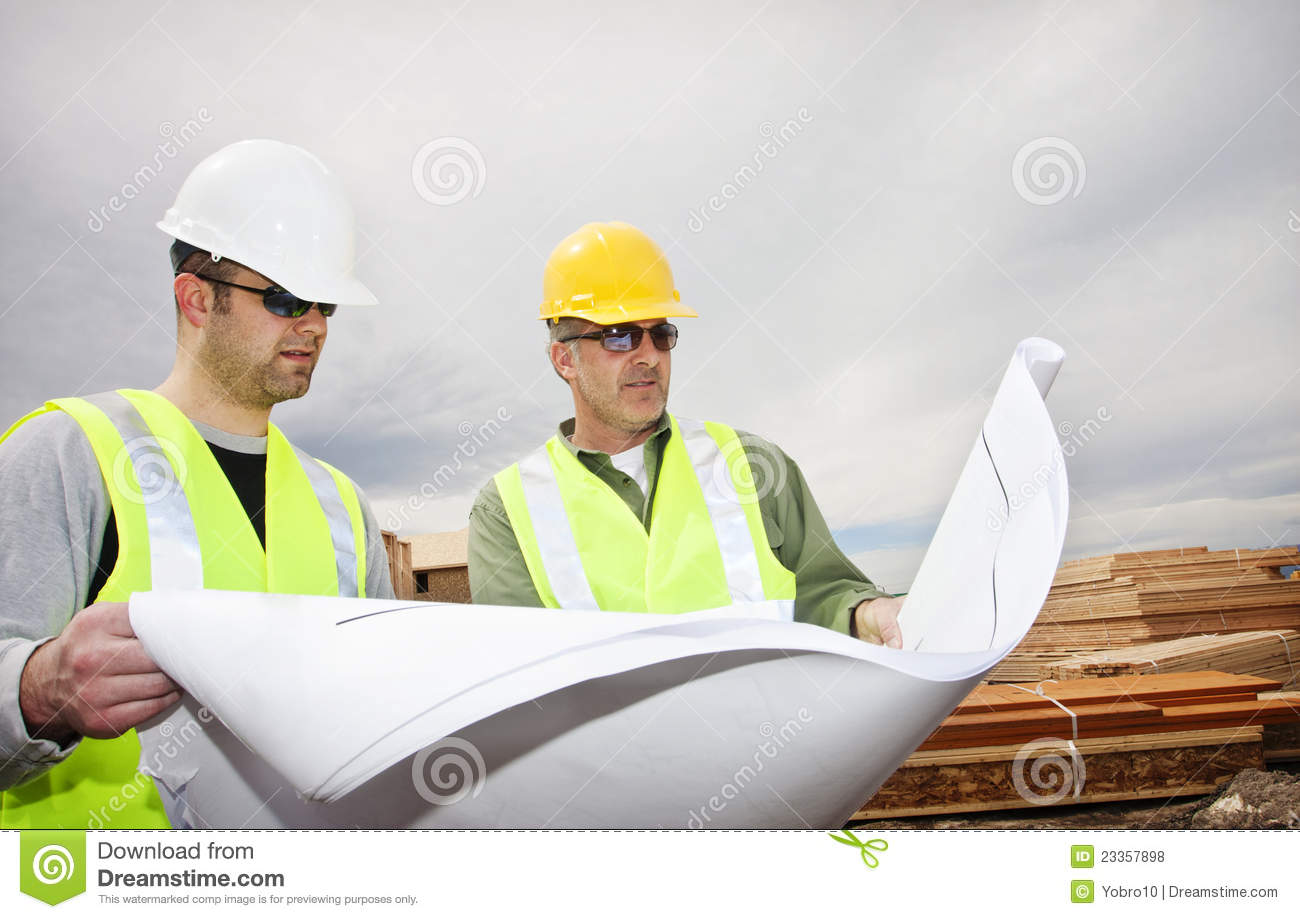 Workers reading construction plans stock photo image of workers reading construction plans malvernweather