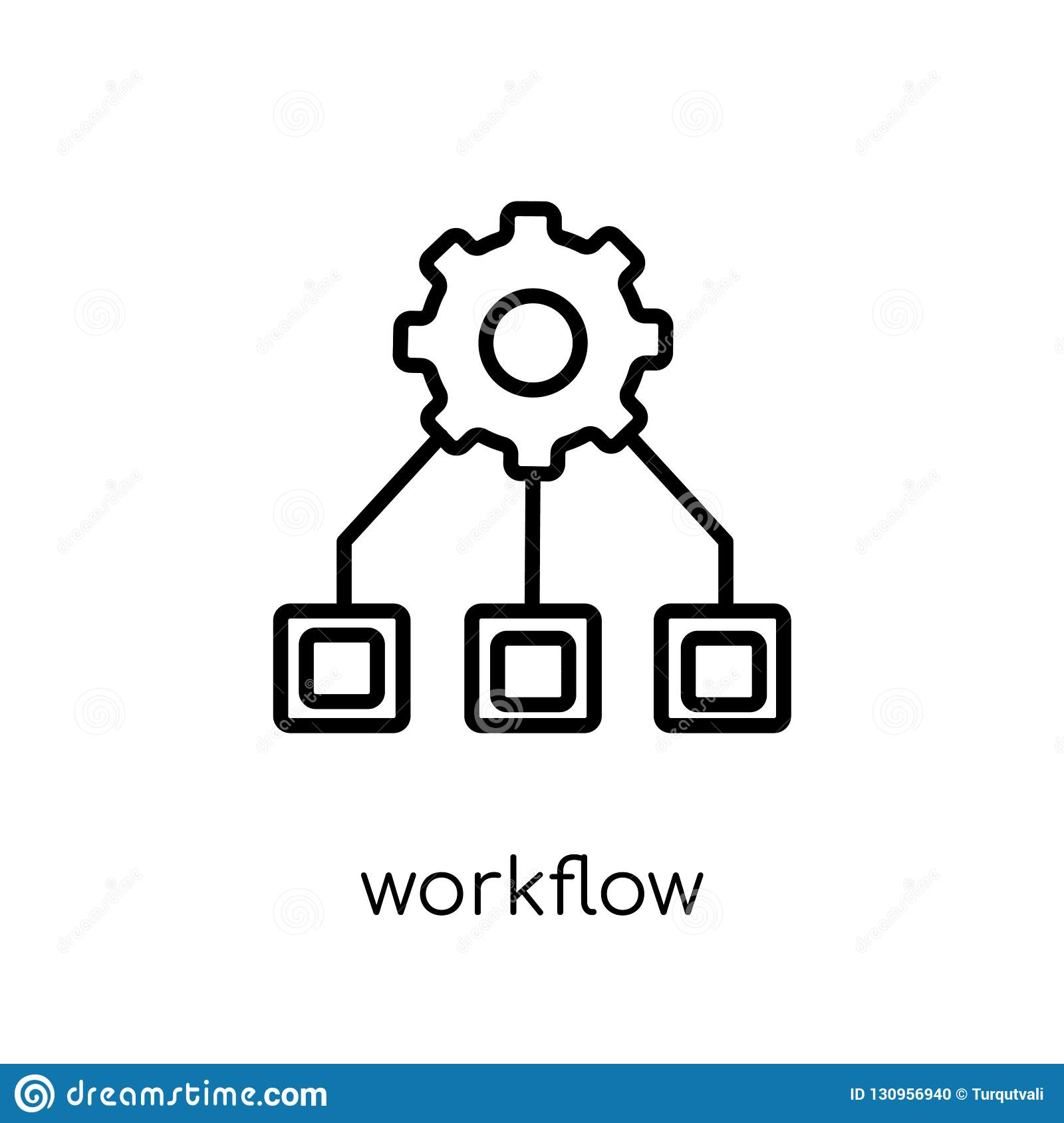 Workflow icon from collection.