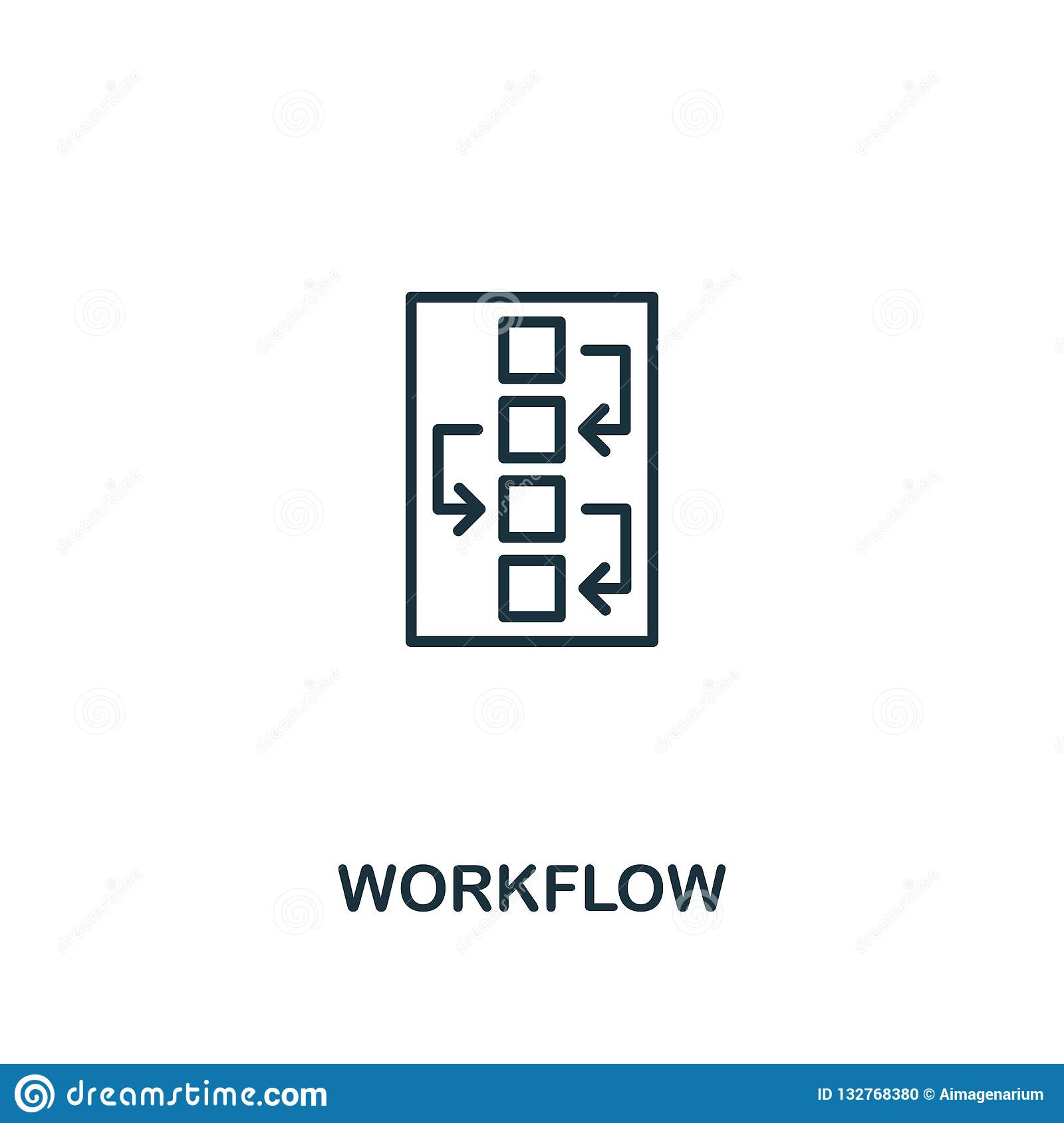 Workflow icon. Premium style design from design ui and ux icon collection. Pixel perfect Workflow icon for web design, apps,