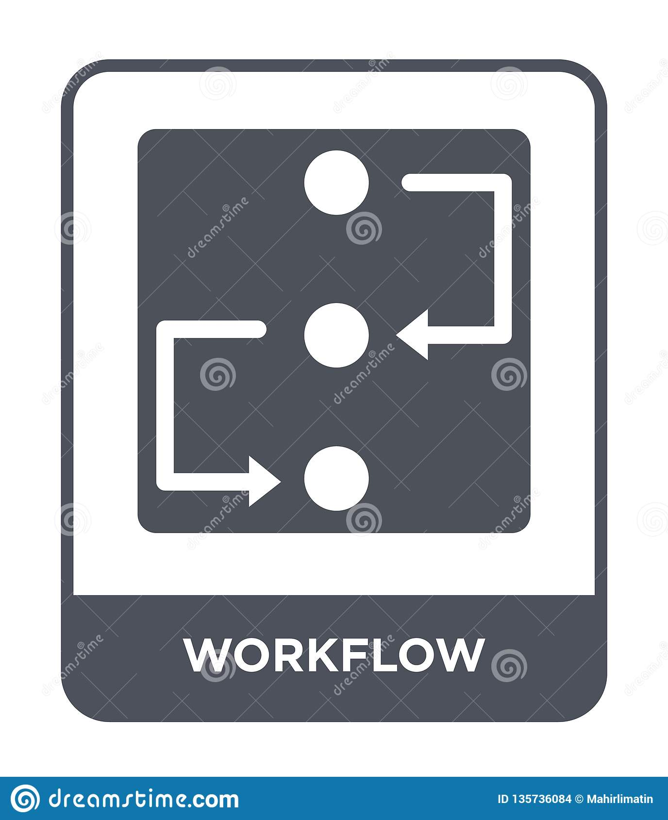 workflow icon in trendy design style. workflow icon isolated on white background. workflow vector icon simple and modern flat
